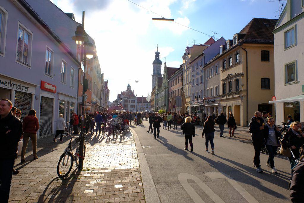 Freisinger Innenstadt mit dem Marienplatz