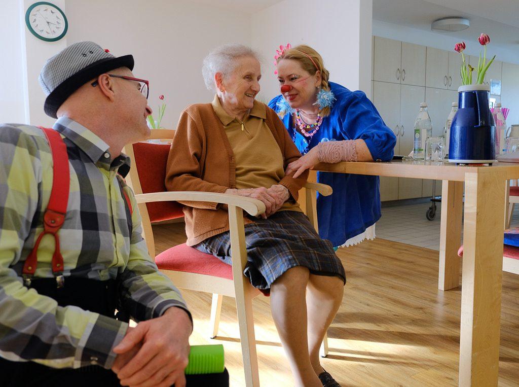 Klinikclowns im Seniorenzentrum Freising