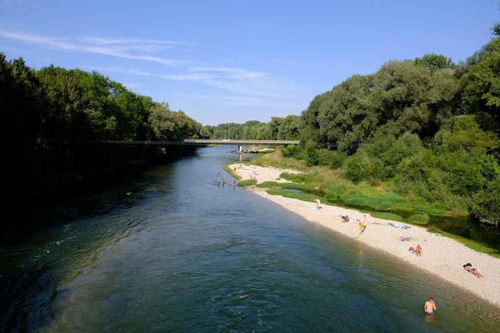 Isar in Freising